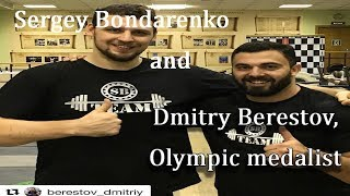 Sergey Bondarenko and Dmitry Berestov, Olympic champion.Berestov Team(Weightlifting & CrossFit)