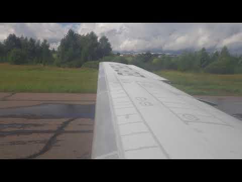 Landing at Velikiy Ustyug in a Severstal Yak-40