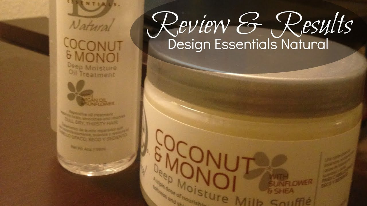 Design Essentials Coconut Monoi Review Results Youtube