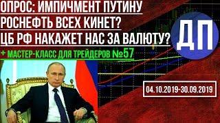 Опрос: Импичмент В.В. Путину. Роснефть должна Китаю миллиарды. ЦБ РФ и валютные вклады