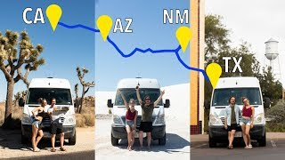 visiting 4 states in OnLY 24 hrs | INSANE van life road trip