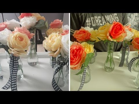 NEW!!!  Making Easy Spring Diy Floral Centerpieces