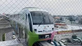(改善して再アップ)沖縄都市モノレール赤嶺駅 1000形発着集