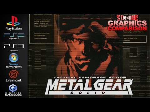 Metal Gear Solid | Graphics Comparison | ( PS1, PS2, PS3, PC, Dreamcast, Gamecube )