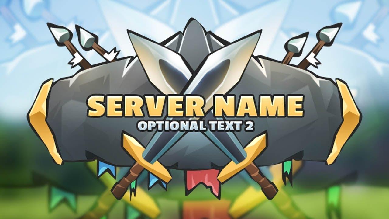 minecraft server logo kitpvp template logo maker youtube