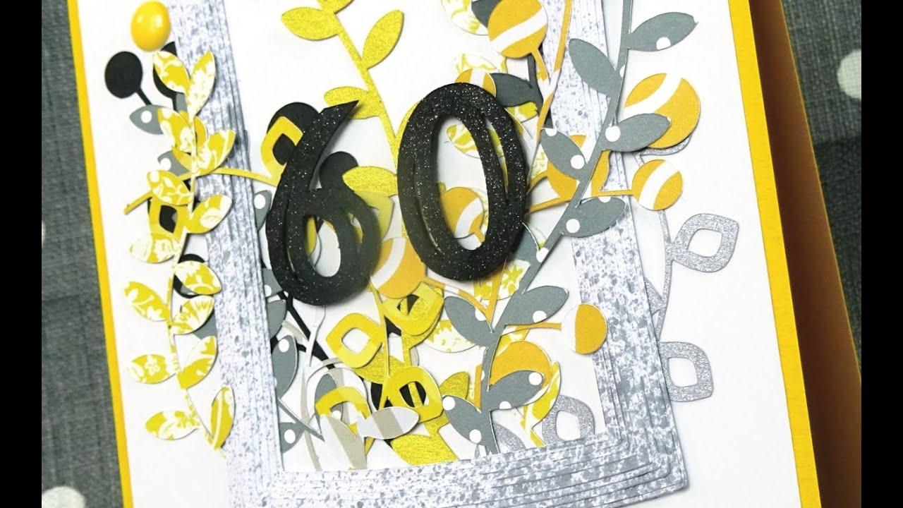 2016 carte anniversaire 60 ans