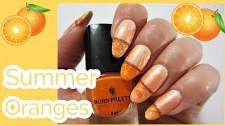 Summer Oranges Nail Art Tutorial!