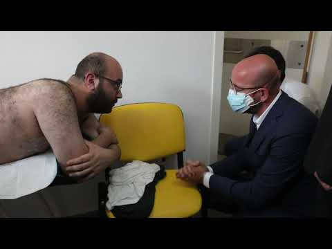 President Michel visited Karagozian Medical Center in Beirut