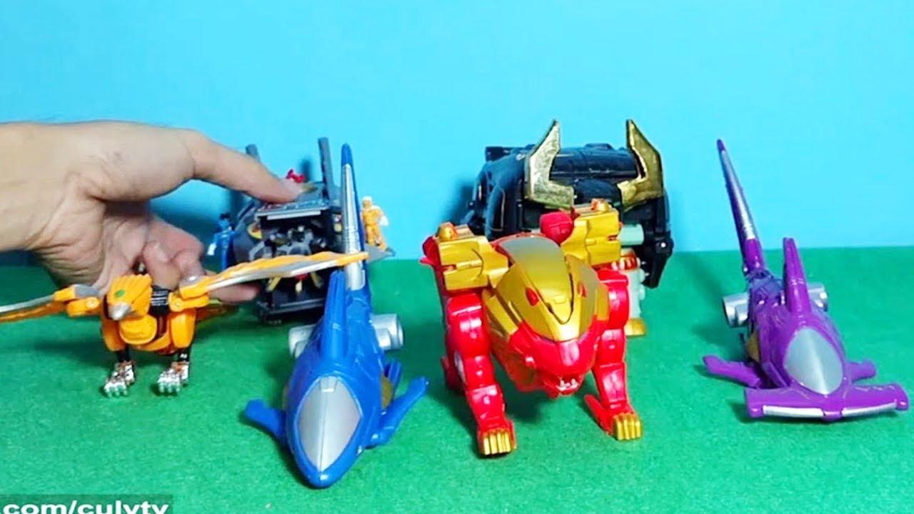 Lắp ráp Robot siêu thú Đồ chơi siêu nhân Gao King Power Rangers