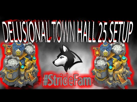Castle Clash Delusional And Funny Town Hall 25 Setup For HBM AA