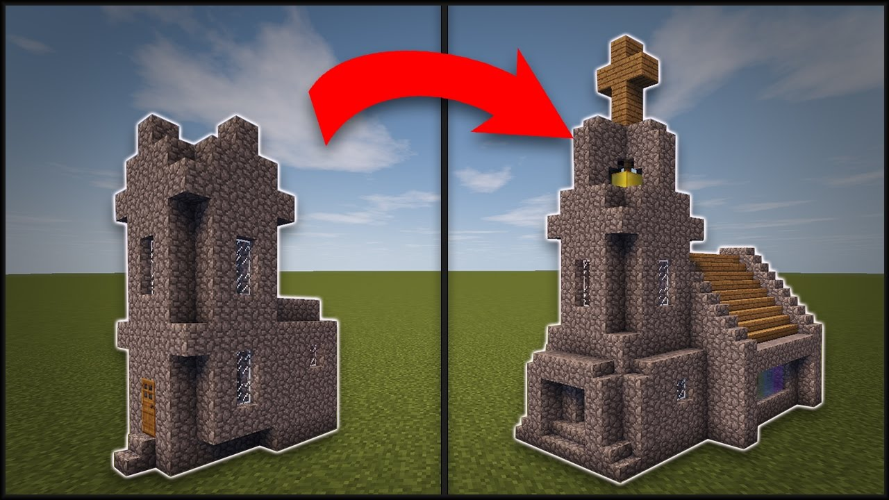 Minecraft how to remodel a village church youtube for Classic house tutorial