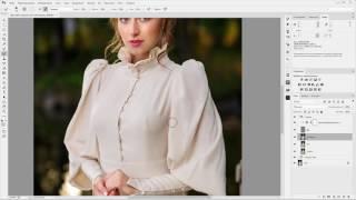 Adobe Photoshop. Урок №3. Проработка платья. (Евгений Карташов)