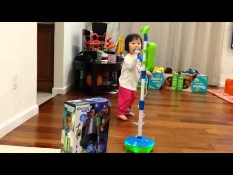 Discovery Kids Light-up Musical Microphone & Stand, You can sing