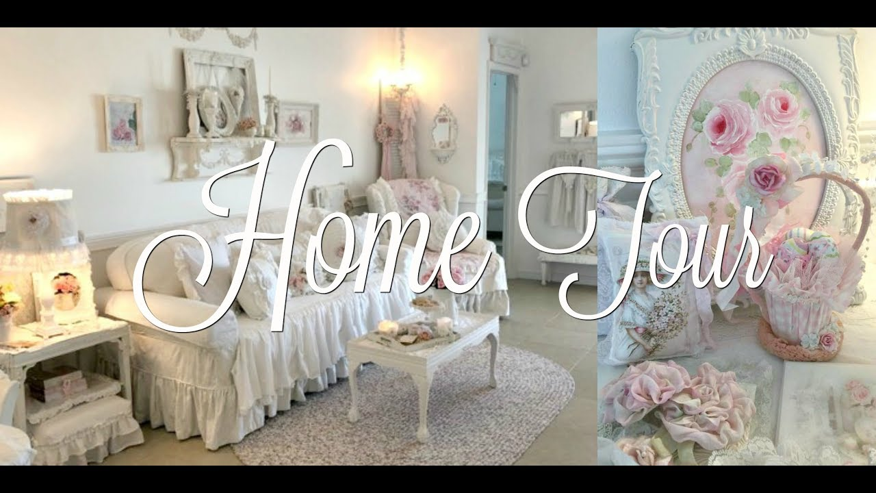 Welcome to my home sweet home!! Shabby Chic Home Tour Annamarie May Cottage Of The Month Youtube