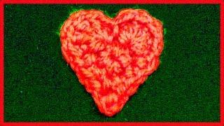 Как связать сердечко крючком. Уроки вязания крючком для начинающих.