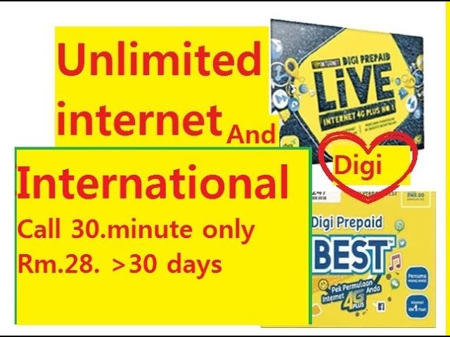 Unlimited internet access digi now - YouTube