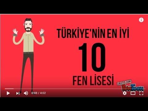 Türkiye'nin En İyi 10 Fen Lisesi | 2017