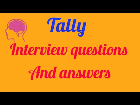 Common interview questions in tally