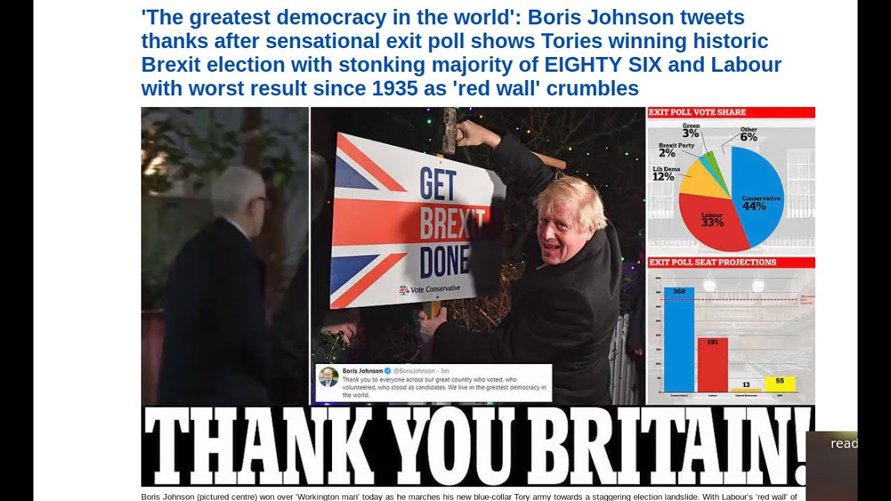 Greatest election upset since 1935 in Great Britain +  Vacation update |