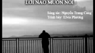 Lời Nào Muốn Nói - Nguyễn Trung Cang