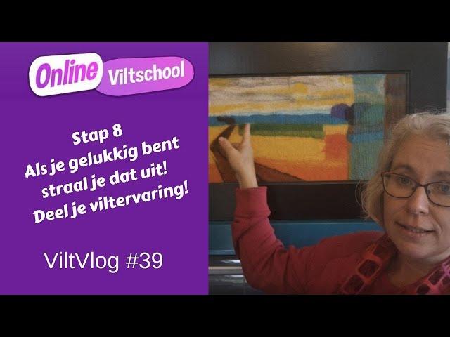 Viltvlog #39 stap 8 delen en stralen