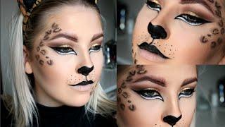 Leopard makeup for Halloween or dress up! HALLOWEEN 2015