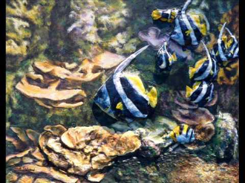 Tableaux peinture acrylique les fonds marins poissons for Peinture acrylique