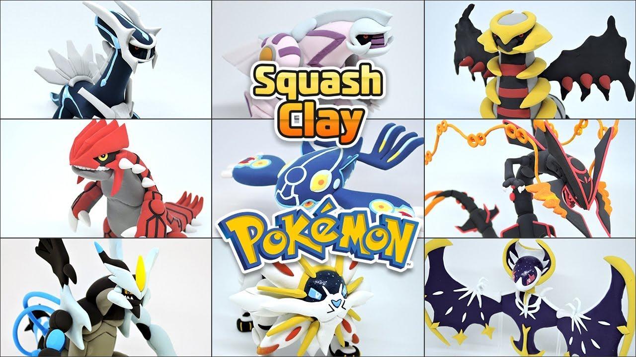 Legendary Pokémon Clay Art Dialgapalkiagiratinagroudonkyogrerayquaza