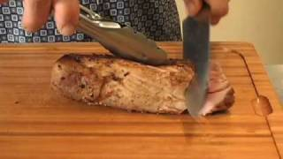 Pork Tenderloin And Napa Cabbage & Mango Slaw By Chef Jeff Murphy