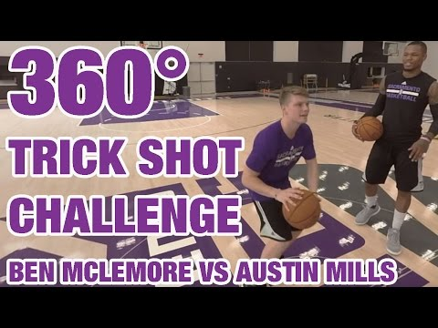 nba-360-|-trick-shot-challenge:-ben-mclemore-vs-austin-mills-|-nba-playmakers