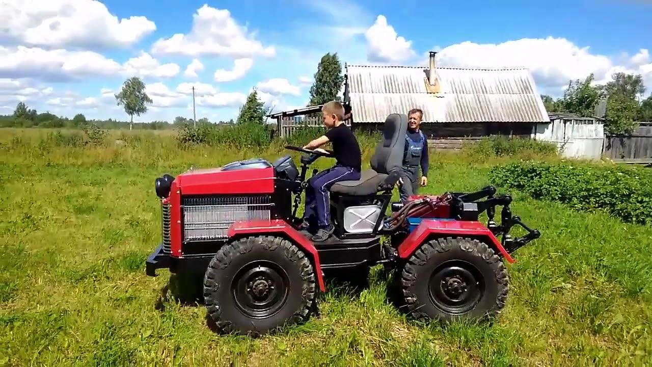 самодельные трактора переломки видео