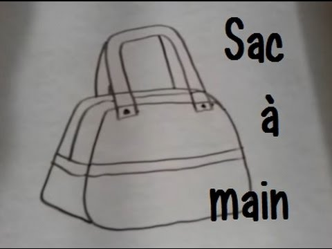 dessiner un sac a main version 2 youtube. Black Bedroom Furniture Sets. Home Design Ideas