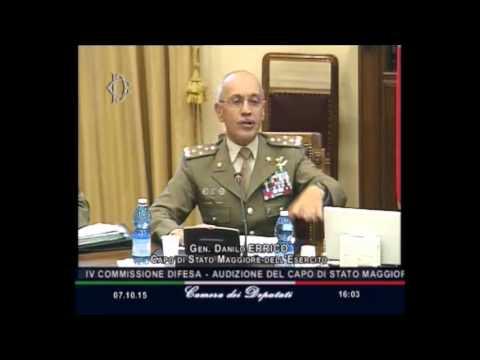 poligoni militari audizione gen danilo errico in