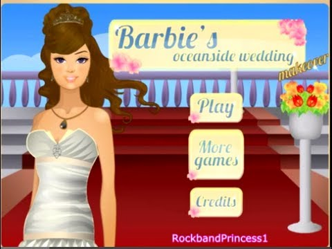 Barbie Games Barbie's Oceanside Wedding Makeover Game