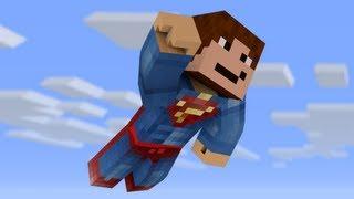 Man Of Steel! Superman in Minecraft! (1.7.4 Mod)