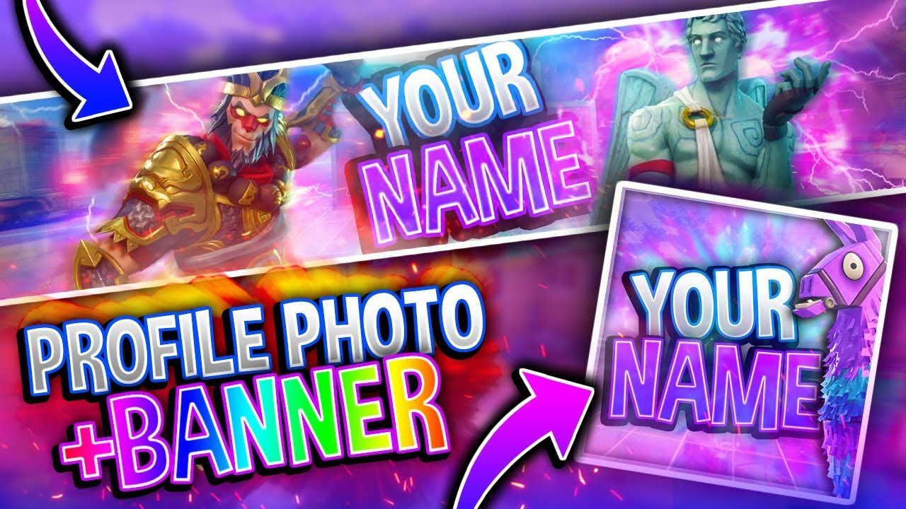 FREE Fortnite Banner + Profile Photo Template PACK!