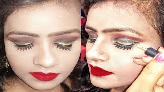 Affordable makeup products ऐसा मेकअप जो गर्मी में काला न पड़े!summer special water proof makeup SJ