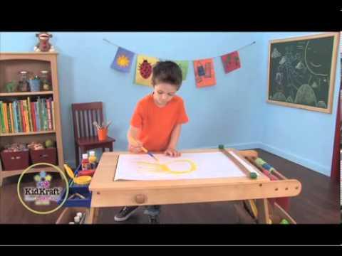 018574f6b863 KidKraft Art Table with Drying Rack   Storage 26954 - YouTube