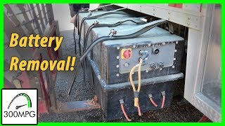 7 Junkyard Electric Truck: Battery Removal!