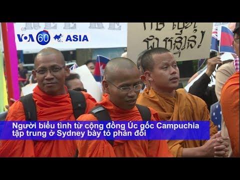 Người Úc gốc Campuchia phản đối Thủ tướng Hun Sen