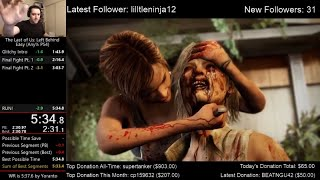The Last of Us: Left Behind Speedrun World Record! (5:34.9) on Easy mode (Any% PS4)