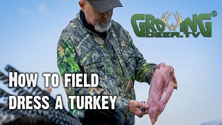After the Hunt - How To Get the Meat Off A Turkey (Field Dressing A Turkey)