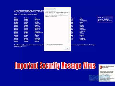 Important Security Message Virus
