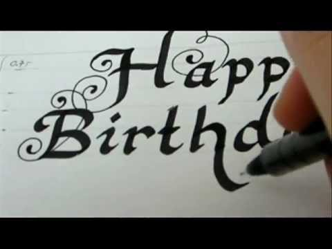 Happy Birthday Draw Happy Birthday Fancy Letters Youtube