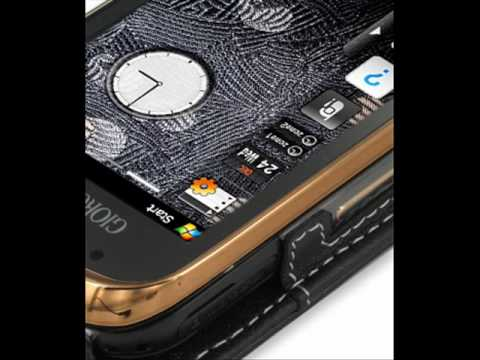 PDair Leather Case for Samsung B7620 Giorgio Armani - Flip Type (Black)