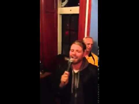 A drunk Brian McFadden sings Mustang Sally on karaoke