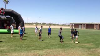 Grande Sports Academy Inflatable Goal At Pool Party