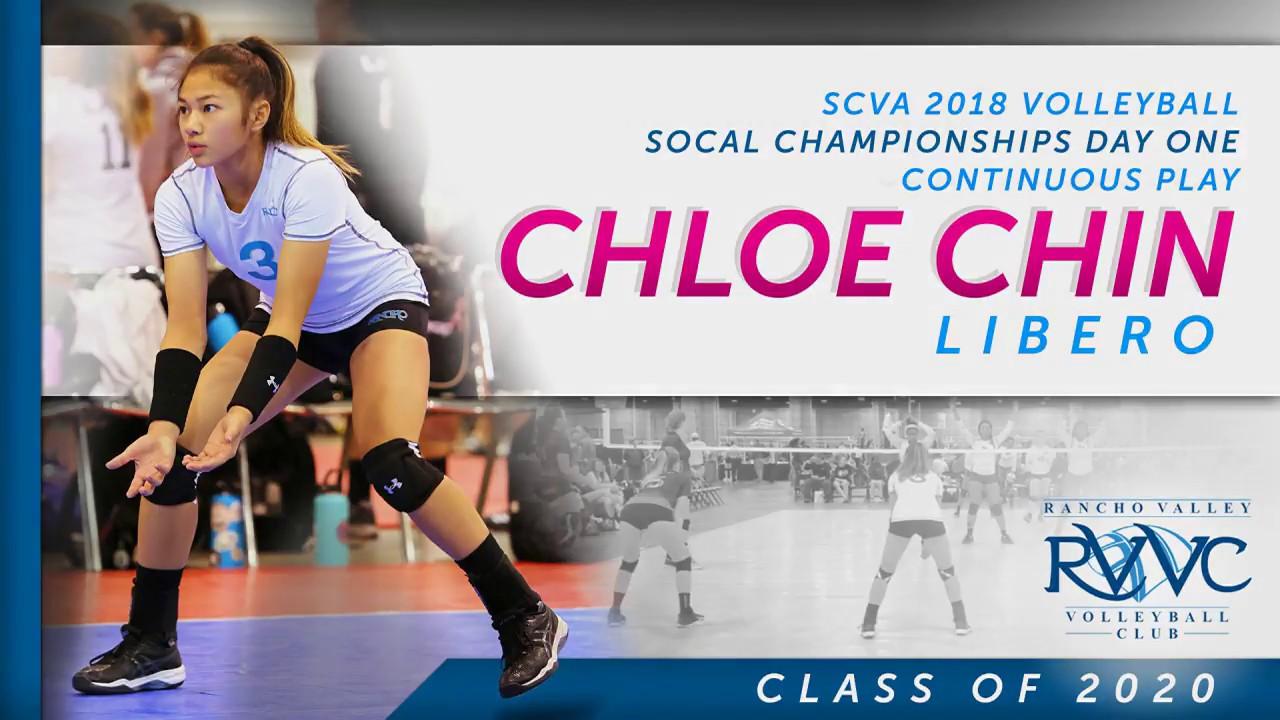 Scva Volleyball Schedule 2020 Class of 2020 Libero / DS   Chloe Chin Volleyball Recruit   2018