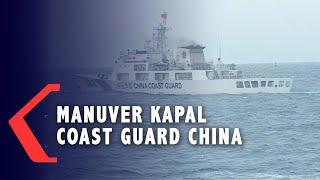 Detik-Detik Manuver Kapal Coast Guard China pada KRI Usman Harun di Natuna