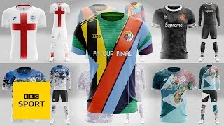 How to design a Man City-Watford FA Cup Final mash-up kit with Xztals | BBC Sport